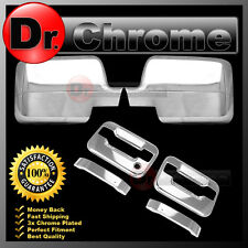 04-08 Ford F150 Chrome Mirror+2 Door Handle+no keypad+no PSG keyhole Cover COMBO
