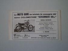 advertising Pubblicità 1972 MOTO GORI SCRAMBLER 50