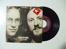 """America – Survival - Disco Vinile 45 Giri 7"""" Stampa ITALIA 1982"""