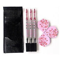Cuesoul Soft Tip Darts 17grams Pink Barrel For Girl Lady Dart-Lady-Dart bes S8Y4
