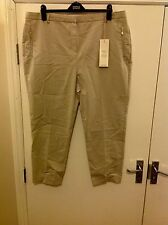 M&S Per Una Roma Sits On The Waist Slim Fit Trousers Size: 20 Short