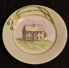 Haviland Limoges Porcelain Plate Hand Painted Colonial House Signed EPP 1889