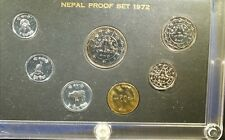 1972 Nepal Proof Set - Original Box and case - some toning