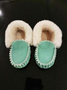 Kids Sheepskin Moccasins Children Slippers Multiple Colours Size 3-13 Custommade