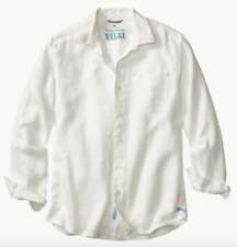 Tommy Bahama Sea Glass Breezer Long-sleeve Shirt in White 2xl