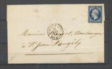 1856 Lettre St Martin-de-Ré/BAT.A VAP., càd + PC s/14, Salles n°411, SUP X4052