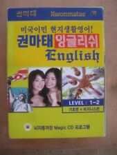 KWONMATAE Korean learn ENGLISH - LEVEL 1-2 - CD's - BOOK's - NEW