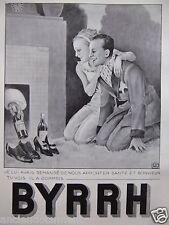 PUBLICITÉ 1935 BYRRH SANTÉ ET BONHEUR APPORTER PAR LE PÈRE NOËL - G.LEONNEC
