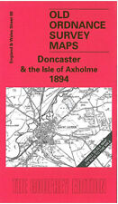 OLD ORDNANCE SURVEY MAP DONCASTER, ISLE OF AXHOLME & FINNINGLEY 1894