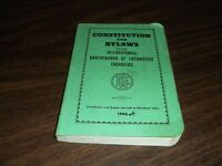 1986 BROTHERHOOD OF LOCOMOTIVE ENGINEERS CONSTITUTION AND BY-LAWS