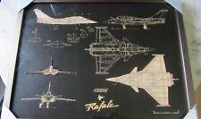 Cadre avec gravures laser /Armée de l'air / Rafale/ Pilote de chasse /