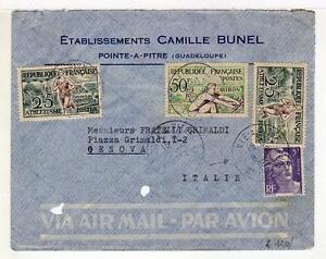 A4840) France 1954 AMC Pointe A Stone Guadel Genova