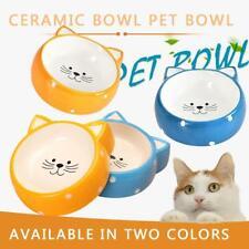 Cute Cat Face Design Pet Dog Cats Ceramic Feeding Bowl Food Water Dish Feeder