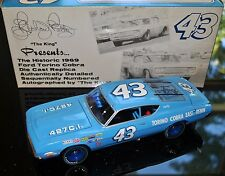 Richard Petty Dale Inman Signed Autographed 1:24 Die Cast NASCAR 1969 Torino