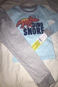 Carter's Toddler Boy 2 Piece Snugfit Sleepwear Set Dinos 5T NWT