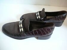 BRIGHTON  GORGEOUS CROCO EMBOSS LEATHER SHOES BROWN  9N