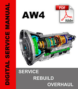 AW4 Transmission Service Repair Rebuild Overhaul Manual for Jeep 1987-2001