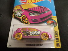 HW HOT WHEELS 2017 HW ART CARS #6/10 VOLKSWAGEN GOLF MK7 PINK HOTWHEELS VHTF