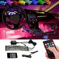 4pcs 48 LED Car Interior Atmosphere Neon Lights Strip Music Control IR Remote t1