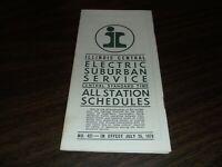 JULY 1970 ILLINOIS CENTRAL ELECTRIC SUBURBAN PUBLIC TIMETABLE #421