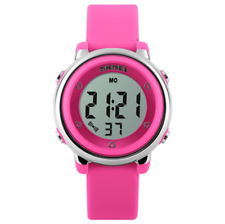 Skmei Girls Cute Clear Digital Display Watch in Pink Purple and White Perfect 5+