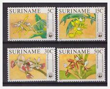 Surinam / Suriname 1986 WWF orchidee orchids MNH