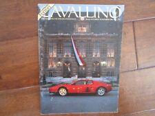 VINTAGE CAVALLINO FERRARI MAGAZINE NUMBER 35 October 1986 Testarossa Cover