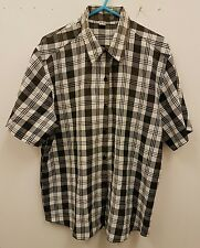 MENS CHECK SHORT SLEEVE CASUAL SUMMER SHIRT SIZE M