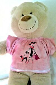 BAB Build a bear clothes to fit girls  teddy top shirt 40 cm  P Patch handmade