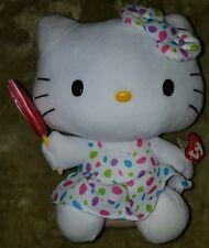 """Ty Beanie Hello Kitty 12"""" Polka Dot w/ Lollipop, Nwt"""
