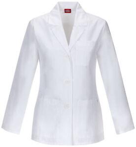 "Dickies EDS 84401 Women's 28"" Lab Coat Medical Uniforms Scrubs"