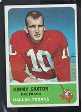 1962 Fleer Football Card #26 Jimmy Saxton-Dallas Texans
