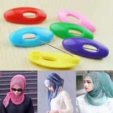 6 pcs Plastic Hijab Muslim Islamic Scarf Pin Safety Pin Clips Set