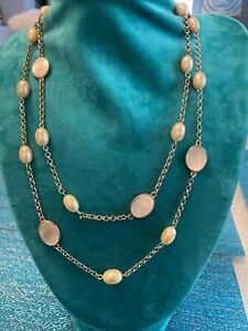 """NWT Talbots Faux Pearl Goldtone Long 42"""" Necklace"""