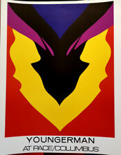 JACK YOUNGERMAN AT PACE / COLUMBUS - US EXHIBITION POSTER - LITHOGRAPH