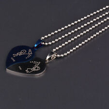 2 Pieces Fashion Gold Silver Best Friends Broken Heart Pendant Chain Necklaces