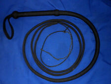 NYLON  whip 16 plait  11 ft bullwhip whips bullwhips BLACK indiana jones
