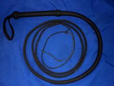 Nylon whip 16 plait 10 ft bullwhip whips bullwhips Black indiana jones