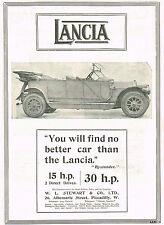1911 Original Antique Vintage Lancia Automobile Motor Car Photo Print Ad
