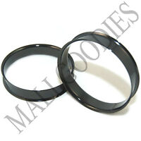 "0708 Black Double Flare Flesh Tunnels Earlets Saddle Gauges 2"" inch Plugs 50mm"