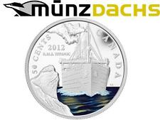 50 cent RMS Titanic Silver Plated Coin Canada Proof 2012 coloured Sold Out