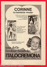 Pubblicità Advertising ITALOCREMONA 1973 CORINNE