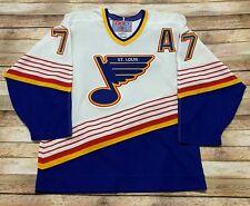 Vtg ST LOUIS BLUES Jersey PIERRE TURGEON 1996-2001 Home White CCM NHL 90s MEDIUM