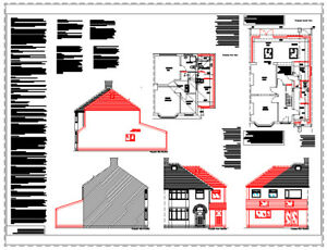 UPDATED FOR 2020 TWO STOREY EXTENSION CAD PLANS FOR PLANNING & BUILDING REGS