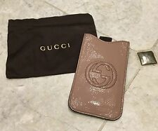 Gucci Soho iPhone 5 Patent Leather Case Pale Pink Nude Color Excellent Condition