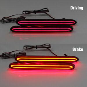 2x LED Rear Bumper Lamp Reflector Brake Tail Lights For Honda Odyssey 2007 2008