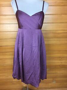 Jake*s Purple Bubble Hem Cocktail Party Formal Dress Size 14 EUC