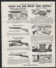 1952 DAISY BB Gun PRINT AD Model 325, 25 Pump Gun. 311, Red Ryder, Targeteer