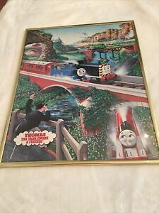 Thomas The Tank Engine & Friends Thomas The Train 1991 Scandecor Framed Poster