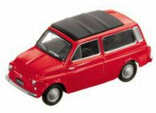 "1/43 Voiture Miniature Fiat 500 Break Jardiniere Rouge ""Vintage"" Collection Neuf"